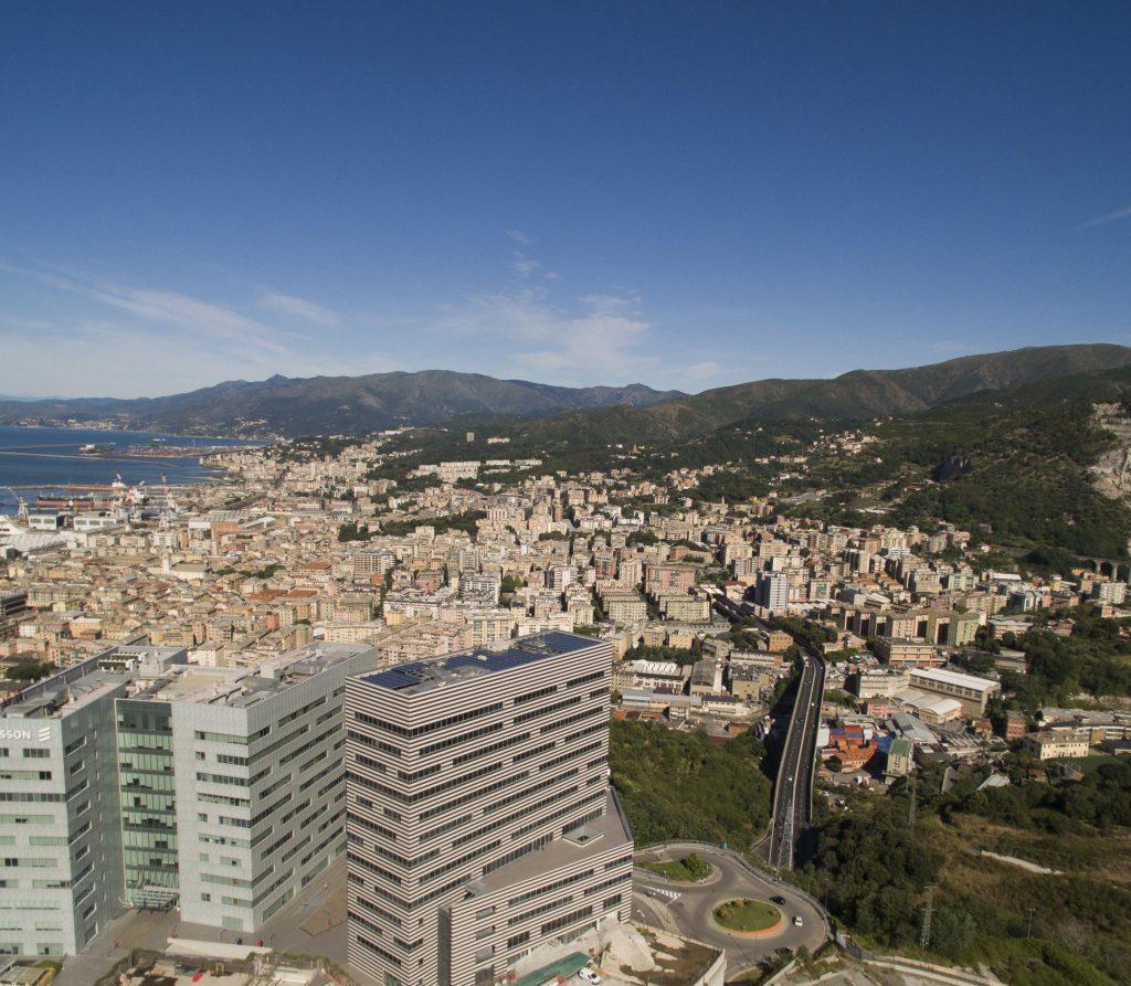 Visuale Parco Scientifico degli Erzelli dall'alto