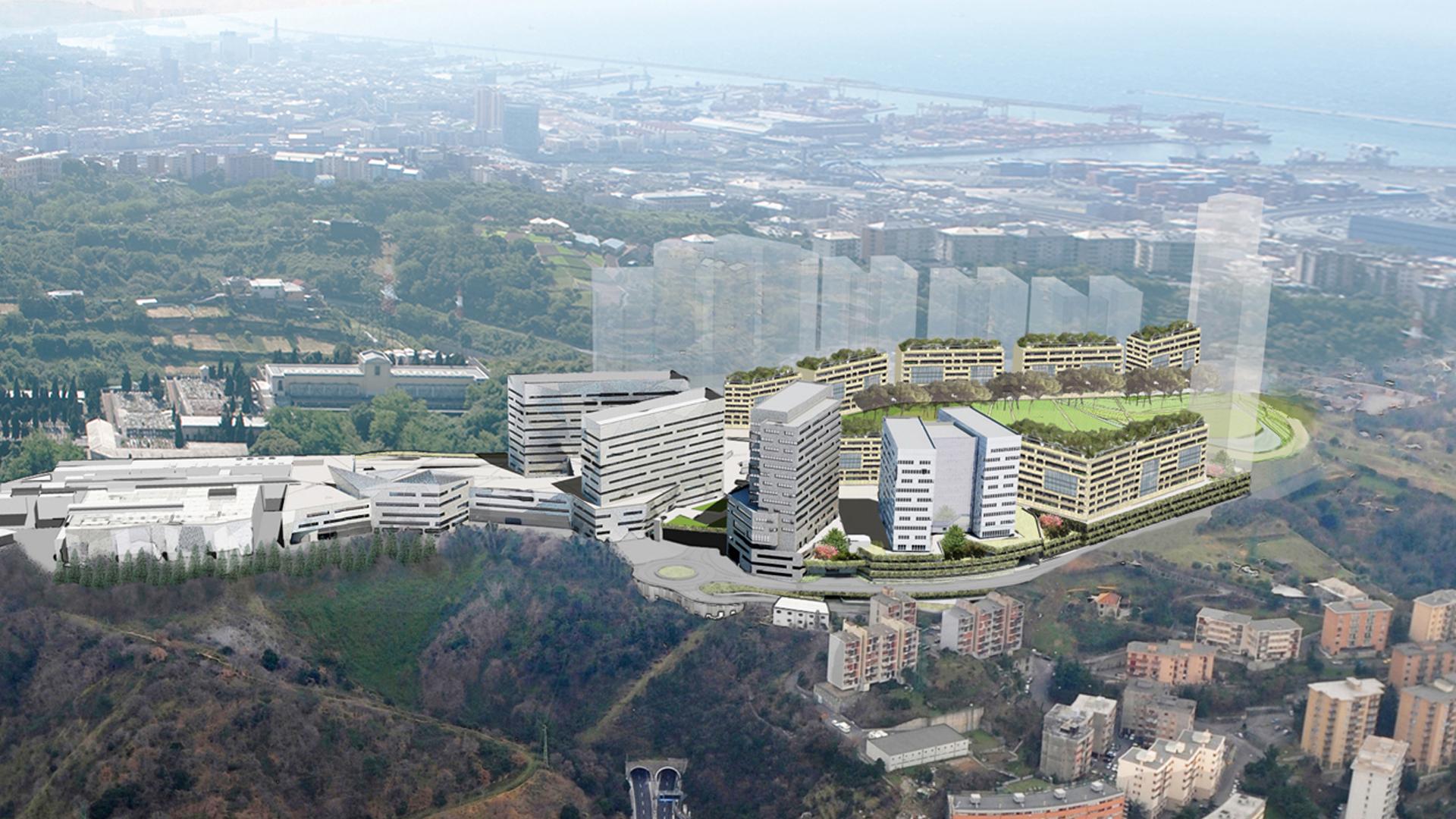 Veduta aerea Genova Erzelli - Great Campus