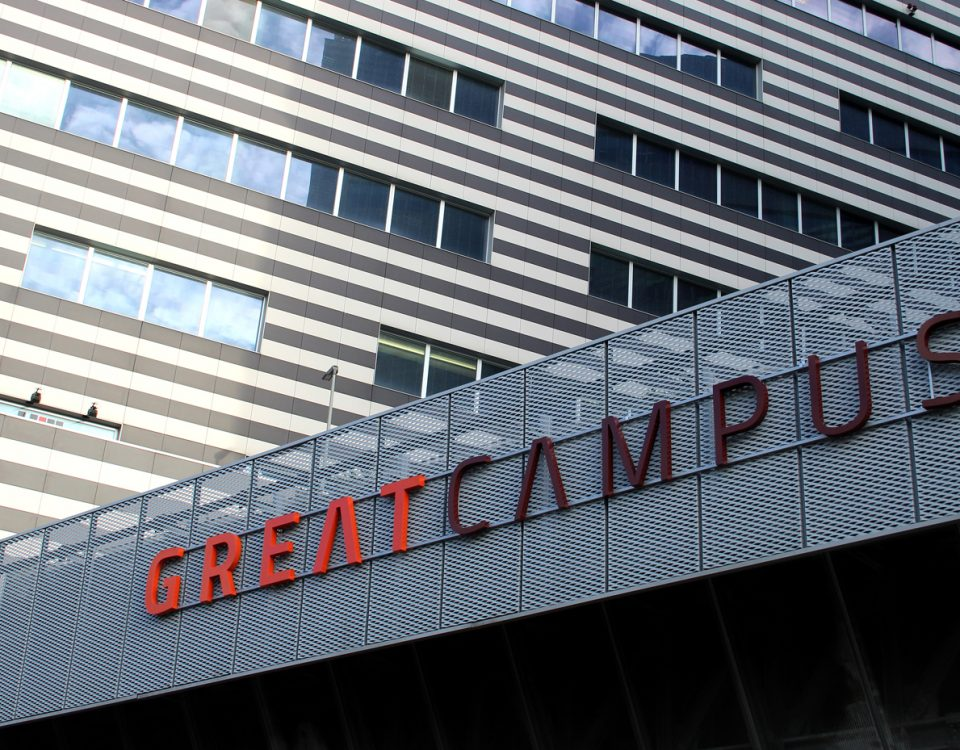 Insegna GREAT Campus Wayfinding
